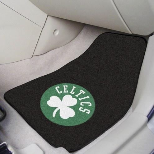 Boston Celtics 2-Piece Carpet Car Mats