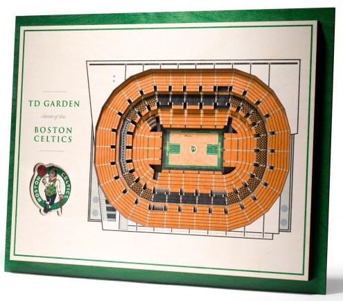 Boston Celtics 5-Layer StadiumViews 3D Wall Art