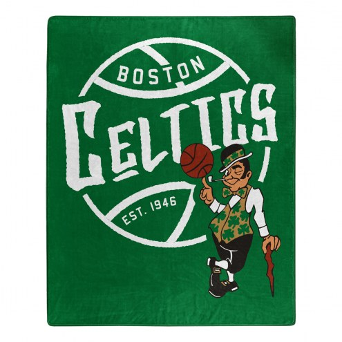 Boston Celtics Blacktop Raschel Throw Blanket