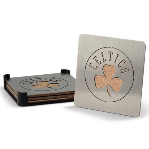 Boston Celtics Boasters Stainless Steel Coasters - Set of 4