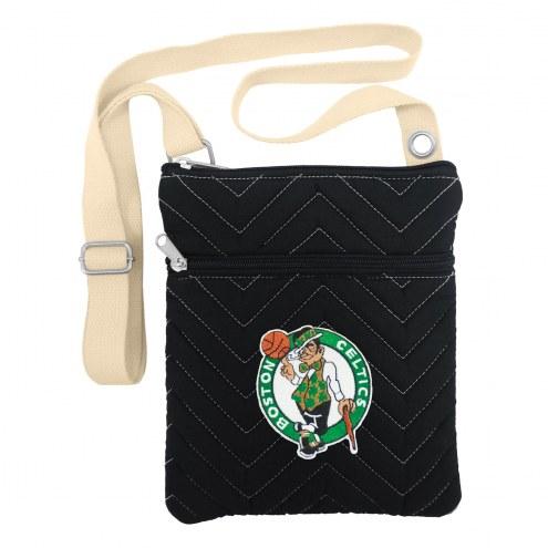 Boston Celtics Chevron Stitch Crossbody Bag