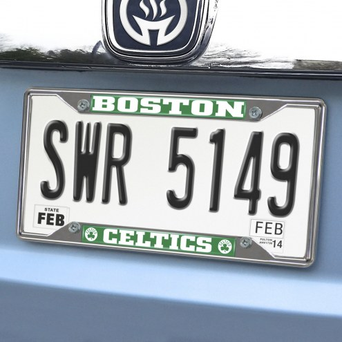 Boston Celtics Chrome Metal License Plate Frame