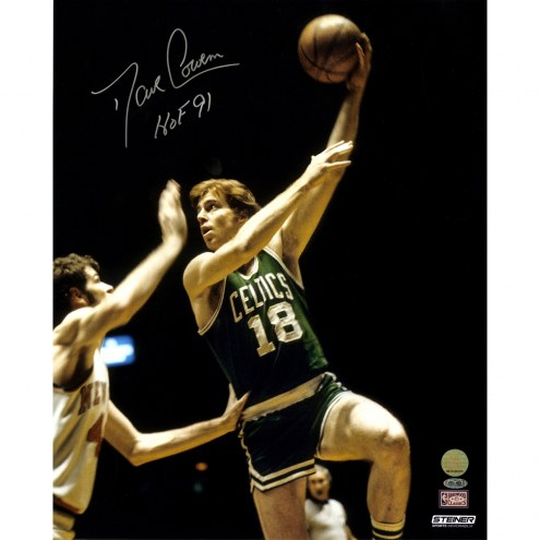"Boston Celtics Dave Cowens vs Knicks w/ "" HOF 91"" Signed 16"" x 20"" Photo"