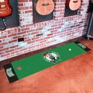 Boston Celtics Golf Putting Green Mat
