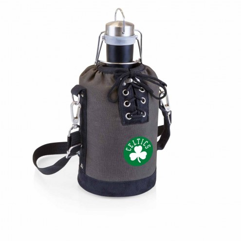 Boston Celtics Insulated Growler Tote with 64 oz. Stainless Steel Growler