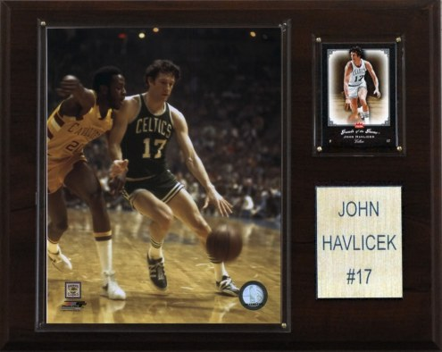 "Boston Celtics John Havlicek 12"" x 15"" Player Plaque"