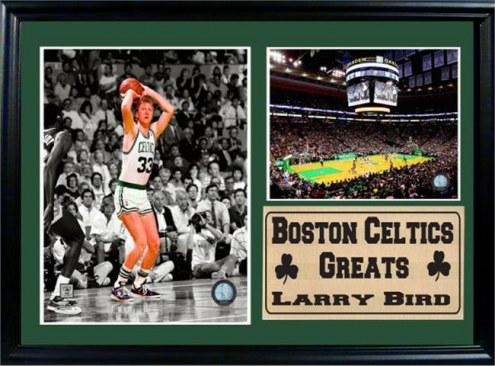 "Boston Celtics Larry Bird 12"" x 18"" Greats Photo Stat Frame"