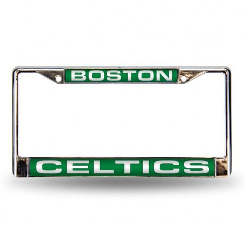Boston Celtics Laser Chrome License Plate Frame