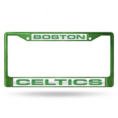 Boston Celtics Laser Colored Chrome License Plate Frame