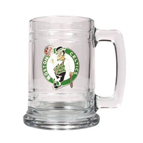 Boston Celtics NBA 2-Piece Glass Tankard Beer Mug Set