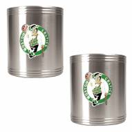 Boston Celtics NBA Stainless Steel Can Holder 2-Piece Set