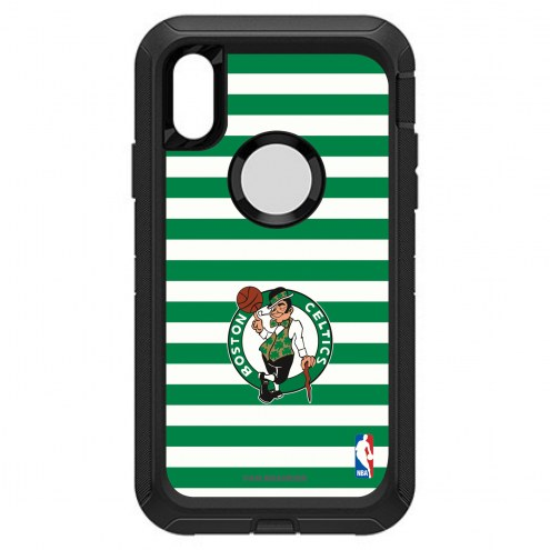 Boston Celtics OtterBox iPhone XR Defender Stripes Case