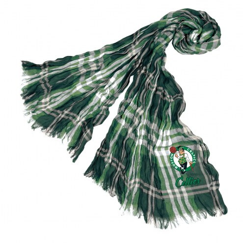 Boston Celtics Plaid Crinkle Scarf
