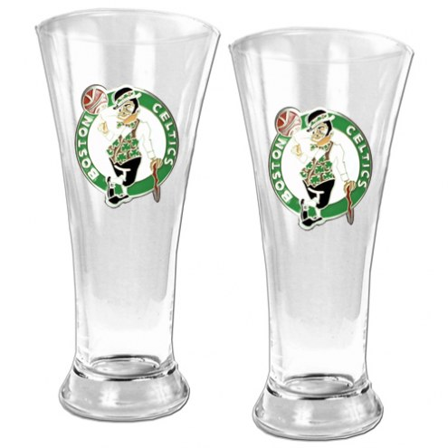 Boston Celtics Premiere Pilsner Glass Set