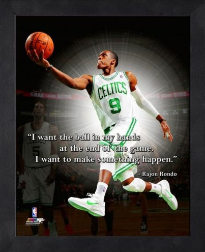 Boston Celtics Rajon Rondo Framed Pro Quote