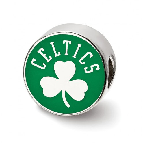 Boston Celtics Sterling Silver Enameled Bead