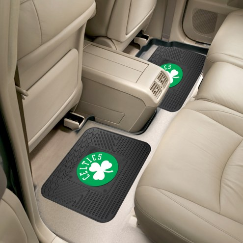 Boston Celtics Vinyl 2-Piece Rear Floor Mats