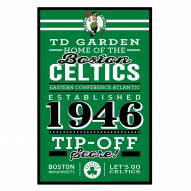 Boston Celtics Established Wood Sign