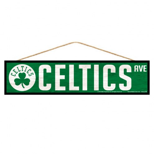 Boston Celtics Wood Avenue Sign