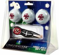 Boston College Eagles Black Crosshair Divot Tool & 3 Golf Ball Gift Pack