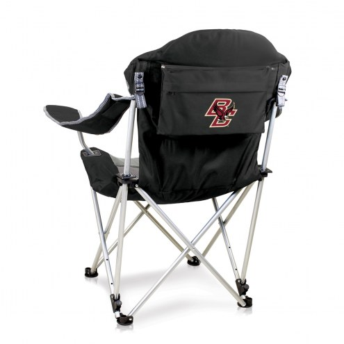 Boston College Eagles Black Reclining Camp Chair