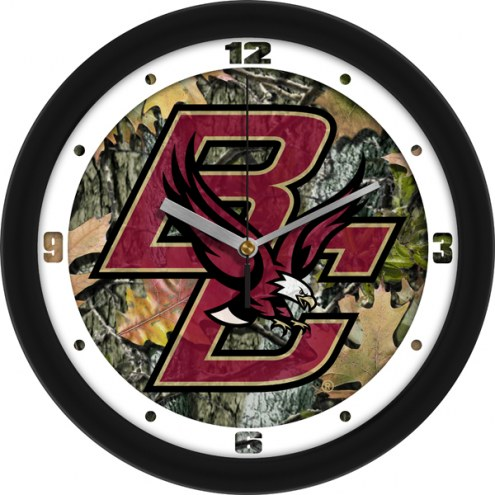 Boston College Eagles Camo Wall Clock
