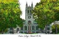 Boston College Eagles Campus Images Lithograph