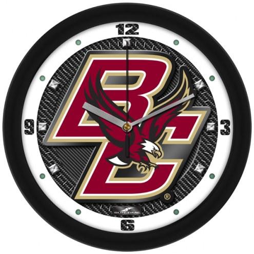 Boston College Eagles Carbon Fiber Wall Clock