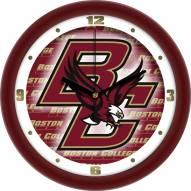 Boston College Eagles Dimension Wall Clock