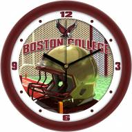 Boston College Eagles Football Helmet Wall Clock