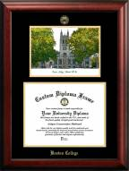 Boston College Eagles Gold Embossed Diploma Frame with Campus Images Lithograph