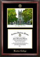 Boston College Eagles Gold Embossed Diploma Frame with Lithograph