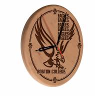 Boston College Eagles Laser Engraved Wood Clock