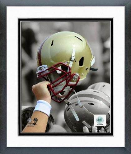Boston College Eagles Helmet Spotlight Framed Photo