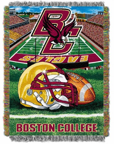 Boston College Eagles Home Field Advantage Throw Blanket