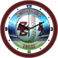 Boston College Eagles Home Run Wall Clock