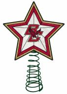 Boston College Eagles Light Up Art Glass Tree Topper
