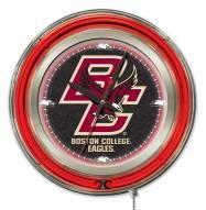 Boston College Eagles Neon Clock
