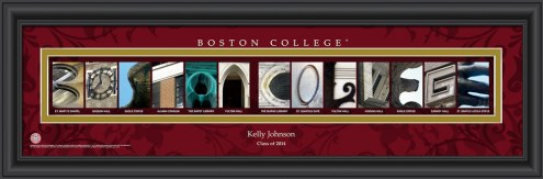 Boston College Eagles Personalized Campus Letter Art