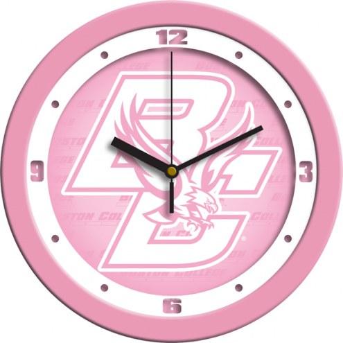 Boston College Eagles Pink Wall Clock