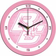 Boston College Eagles Pink Wall Clock