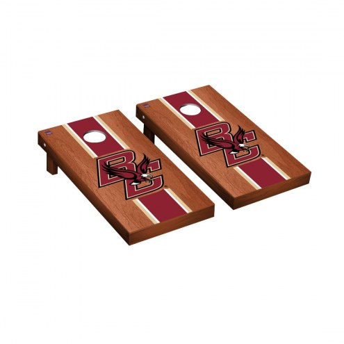 Boston College Eagles Rosewood Stained Cornhole Game Set