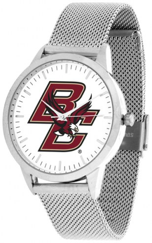 Boston College Eagles Silver Mesh Statement Watch