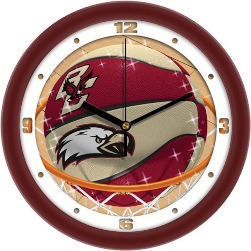 Boston College Eagles Slam Dunk Wall Clock