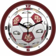 Boston College Eagles Soccer Wall Clock