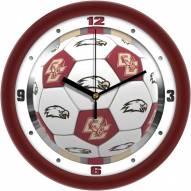 Boston College Eagles Soccer Wall Clock
