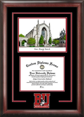Boston College Eagles Spirit Diploma Frame with Campus Image