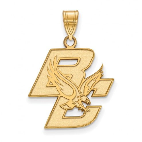 Boston College Eagles Sterling Silver Gold Plated Large Pendant
