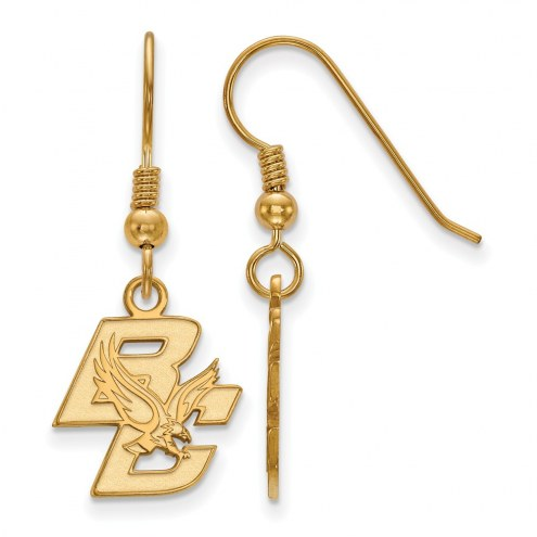 Boston College Eagles Sterling Silver Gold Plated Small Dangle Earrings