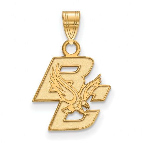 Boston College Eagles Sterling Silver Gold Plated Small Pendant